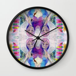 Perfect Little - Kaleidascope version by Jane Davenport Wall Clock