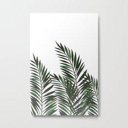 Palm Leaves Green Metal Print