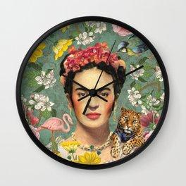 Frida Kahlo X Wall Clock