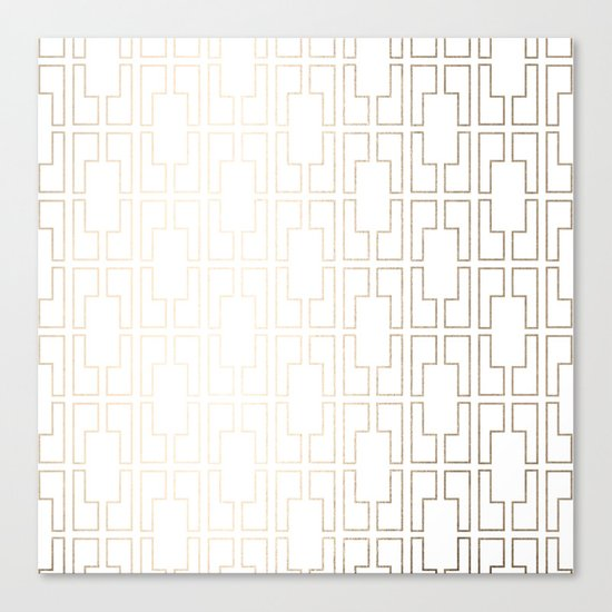 Simply Mid-Century in White Gold Sands Canvas Print