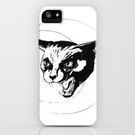 Hissing at the Moon iPhone Case