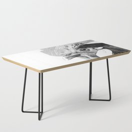 Black and White Rooster Coffee Table