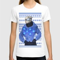 garrus T-shirts featuring Advances in Christmas Sweaters - Garrus by Weissidian
