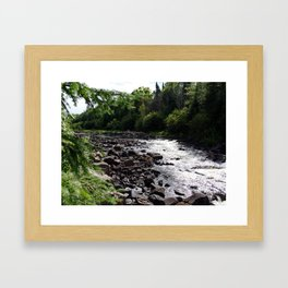 whitewater Framed Art Print