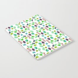 White tropical Notebook