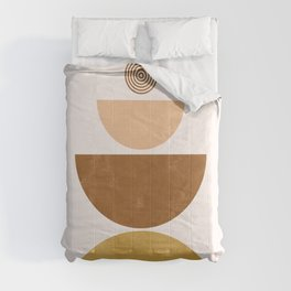 Moons | Mid Century Abstract Comforters