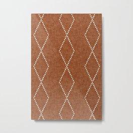 geometric diamonds - ginger Metal Print