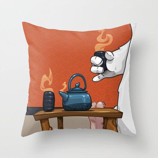 Tea for Three Throw Pillow