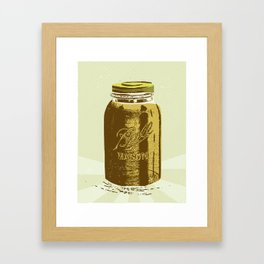 Mason Jar Framed Art Print