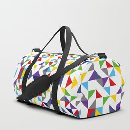 Geometric Pattern Colorful, white background. Good vibes by Cokowo. Duffle Bag
