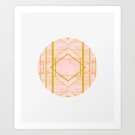 Art Deco Blush #pattern #geometric #blush Art Print