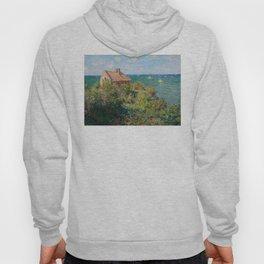 Claude Monet - Fisherman's Cottage on the Cliffs at Varengeville Hoody