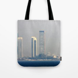 Skyscrapers in the skyline of Izmir (Turkey) Tote Bag