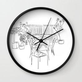 Childhood backyard Wall Clock