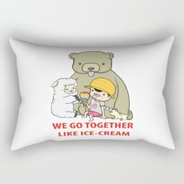 We Go Together Like Ice-Cream Rectangular Pillow
