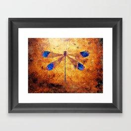 Dragonfly in Amber Framed Art Print