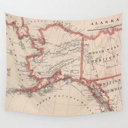 Vintage Map of Alaska (1883) Wall Tapestry