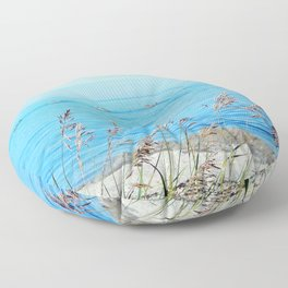 Circle of Rocks and the Tall Grass Floor Pillow