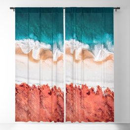 Blue Sea Blackout Curtain