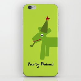 Party Animal-Green iPhone Skin