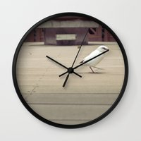 birdy Wall Clocks featuring Birdy by imonster