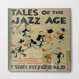 Tales of the Jazz Age vintage book cover - Fitzgerald Metal Print