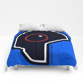 Futuristic Cyborg Logo 2 Comforters