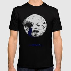 a trip to the moon Mens Fitted Tee Black MEDIUM