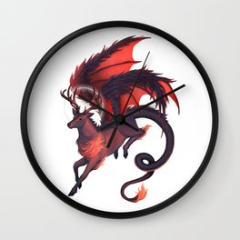 Dragonstag Wall Clock