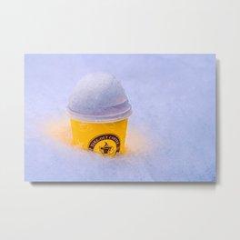 Cool Warming Coffee Metal Print