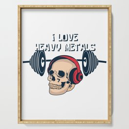 Heavy Metal Skeleton Training Music Funny Gift Serving Tray