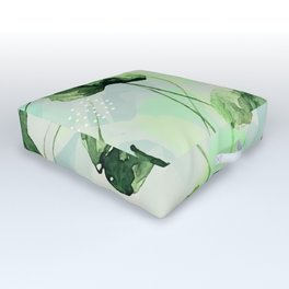 Watercolor leaves Outdoor Floor Cushion