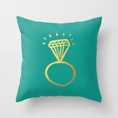 Diamond Ring Throw Pillow