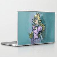 princess peach Laptop & iPad Skins featuring Princess Peach by Karen Hallion Illustrations