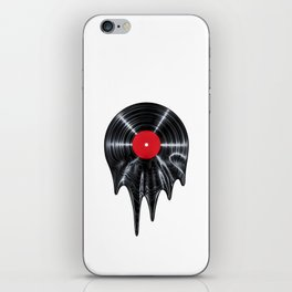 Melting vinyl / 3D render of vinyl record melting iPhone Skin