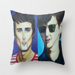 Matt Bellamy and Alex Turner Throw Pillow
