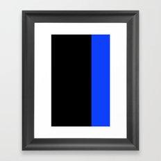 Striped in Blue Framed Art Print