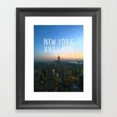 New York, New York Framed Art Print