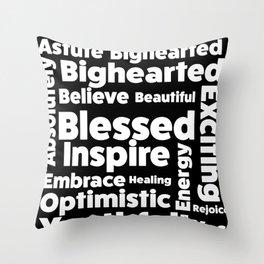 Positive Text board. Throw Pillow