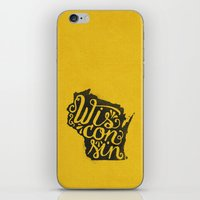 wisconsin iPhone & iPod Skins featuring Wisconsin by Landon Sheely