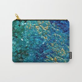 Turbulent Waves, Abstract Acrylic Carry-All Pouch