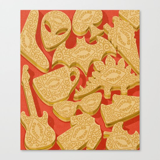 custard creams Canvas Print