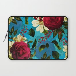 Mystical Blue Rose Garden Laptop Sleeve