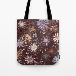 Amber Spice Florals Tote Bag