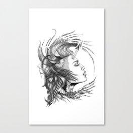 BikerChick Canvas Print