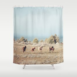 Oregon Wilderness Horses Shower Curtain