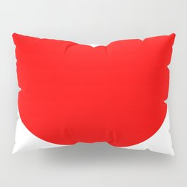 Heart (Red & White) Pillow Sham