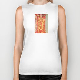 Gustav Klimt - Greek Goddess of Medicine Hygeia Biker Tank