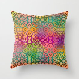 DP050-2 Colorful Moroccan pattern Throw Pillow
