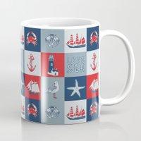 nautical Mugs featuring Nautical by Julscela
